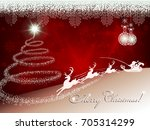 red background with christmas... | Shutterstock .eps vector #705314299
