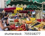 aix en provence  france   aug...   Shutterstock . vector #705318277