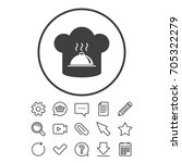 chef hat sign icon. cooking... | Shutterstock .eps vector #705322279