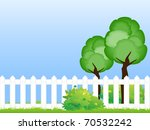 two trees on the green lawn... | Shutterstock .eps vector #70532242