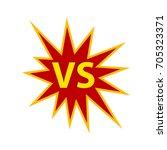 vs in starburst   Shutterstock .eps vector #705323371