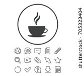 Coffee Cup Sign Icon. Hot...