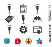 champagne wine glasses icons....