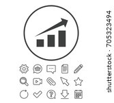 chart with arrow sign icon.... | Shutterstock .eps vector #705323494