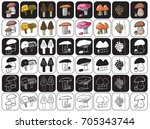 illustration of icons on a... | Shutterstock .eps vector #705343744
