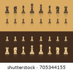 all figures are chess. in brown ... | Shutterstock .eps vector #705344155