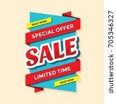 sale vector banner template  ... | Shutterstock .eps vector #705346327