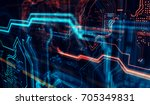 abstract technological... | Shutterstock . vector #705349831