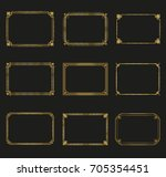 art deco gold horizontal frames ... | Shutterstock .eps vector #705354451