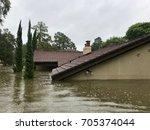 hurricane harvey 2017  flooding ... | Shutterstock . vector #705374044