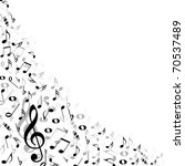 music notes background   Shutterstock .eps vector #70537489