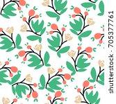 floral  seamless pattern. hand...   Shutterstock .eps vector #705377761