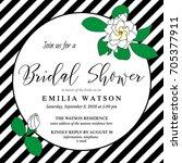 bridal shower invitation card...   Shutterstock .eps vector #705377911