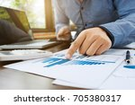 auditor or financial inspector...   Shutterstock . vector #705380317