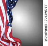 closeup of american flag on... | Shutterstock . vector #705395797
