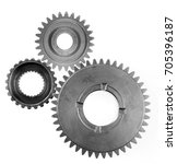 three metal gears on plain...   Shutterstock . vector #705396187