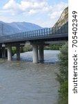 Small photo of Chizzola Ala Trento bridge on Adige River in Trentino Alto Adige