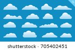 Vector Design Set Of Clouds In...