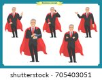 set of super businessman... | Shutterstock .eps vector #705403051