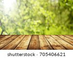 empty table for display montages | Shutterstock . vector #705406621