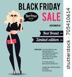 black friday sale inscription... | Shutterstock .eps vector #705410614