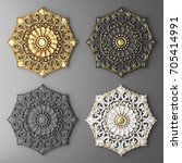 3d rendering stucco molding ... | Shutterstock . vector #705414991
