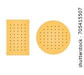 flat biscuit icon. biscuit... | Shutterstock .eps vector #705415507