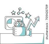 line marketing strategy... | Shutterstock .eps vector #705420709