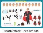 set of super businessman... | Shutterstock .eps vector #705424435