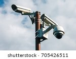 security cctv cameras for... | Shutterstock . vector #705426511