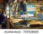 jewelry shops at famous tehran... | Shutterstock . vector #705428005