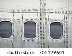 aircraft fuselage | Shutterstock . vector #705429601