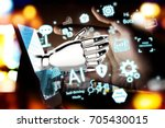 robotic   artificial... | Shutterstock . vector #705430015