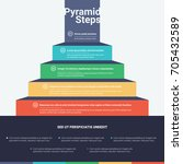 stacked pyramid chart... | Shutterstock .eps vector #705432589