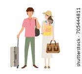 people traveling | Shutterstock .eps vector #705444811