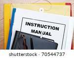 instruction manual abstract... | Shutterstock . vector #70544737