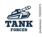 tank logo template. military... | Shutterstock .eps vector #705450571