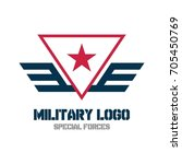 army logo template. military... | Shutterstock .eps vector #705450769
