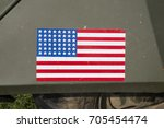 A Close Up Of The American Flag ...