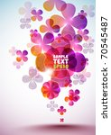 vector layout design with... | Shutterstock .eps vector #70545487