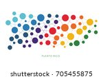 dotted texture puerto rico... | Shutterstock .eps vector #705455875