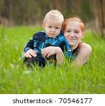 happy mother with her son on...   Shutterstock . vector #70546177