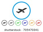 airplane takeoff vector rounded ... | Shutterstock .eps vector #705470341