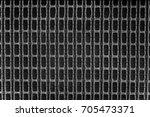 closeup of old type loudspeaker ... | Shutterstock . vector #705473371
