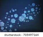 vector abstract futuristic... | Shutterstock .eps vector #705497164