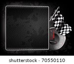 racing background   flag and... | Shutterstock .eps vector #70550110