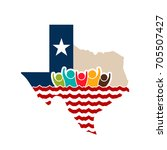 texas people support logo... | Shutterstock .eps vector #705507427