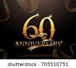 60 year anniversary celebration ... | Shutterstock .eps vector #705510751