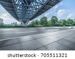 empty road floor with city... | Shutterstock . vector #705511321