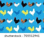 chicken jersey giant blue... | Shutterstock .eps vector #705512941